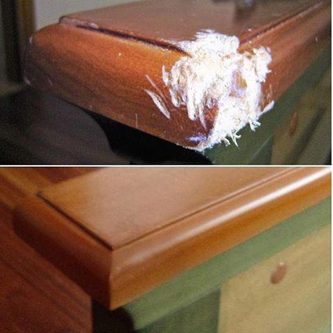 Реставрация подлокотника дивана