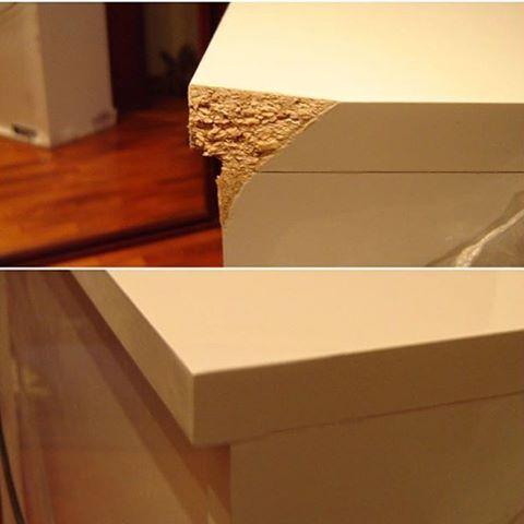 Реставрация угла кухонного комода