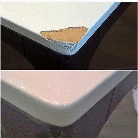 Реставрация высоко глянцевой поверхности