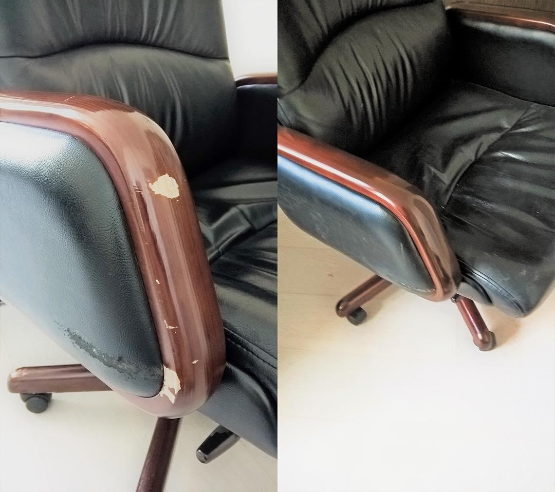 Реставрация подлокотников кресла