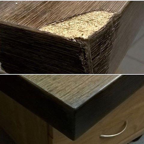 Реставрация столешницы письменного стола