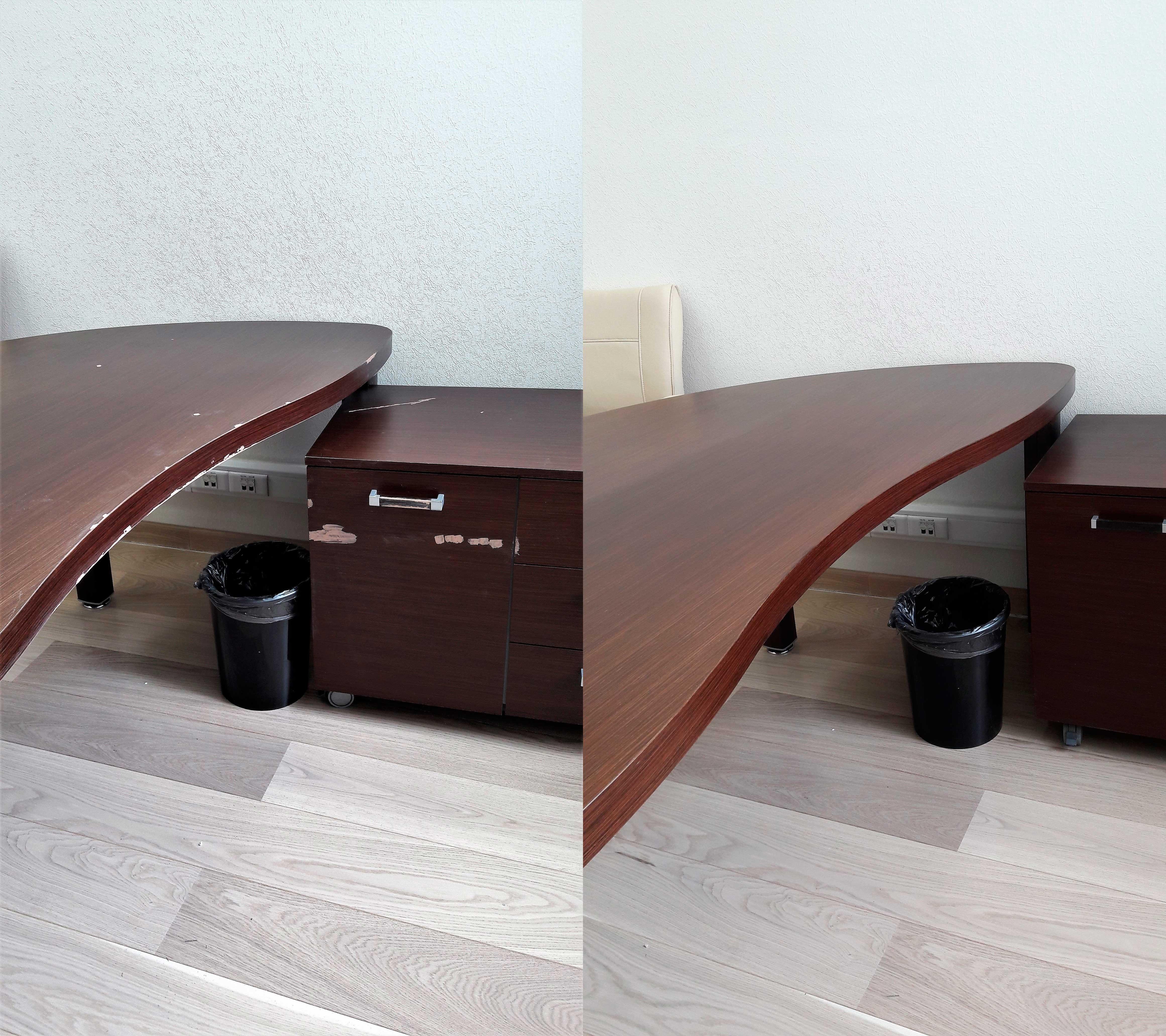 Реставрация офисного стола и тумб