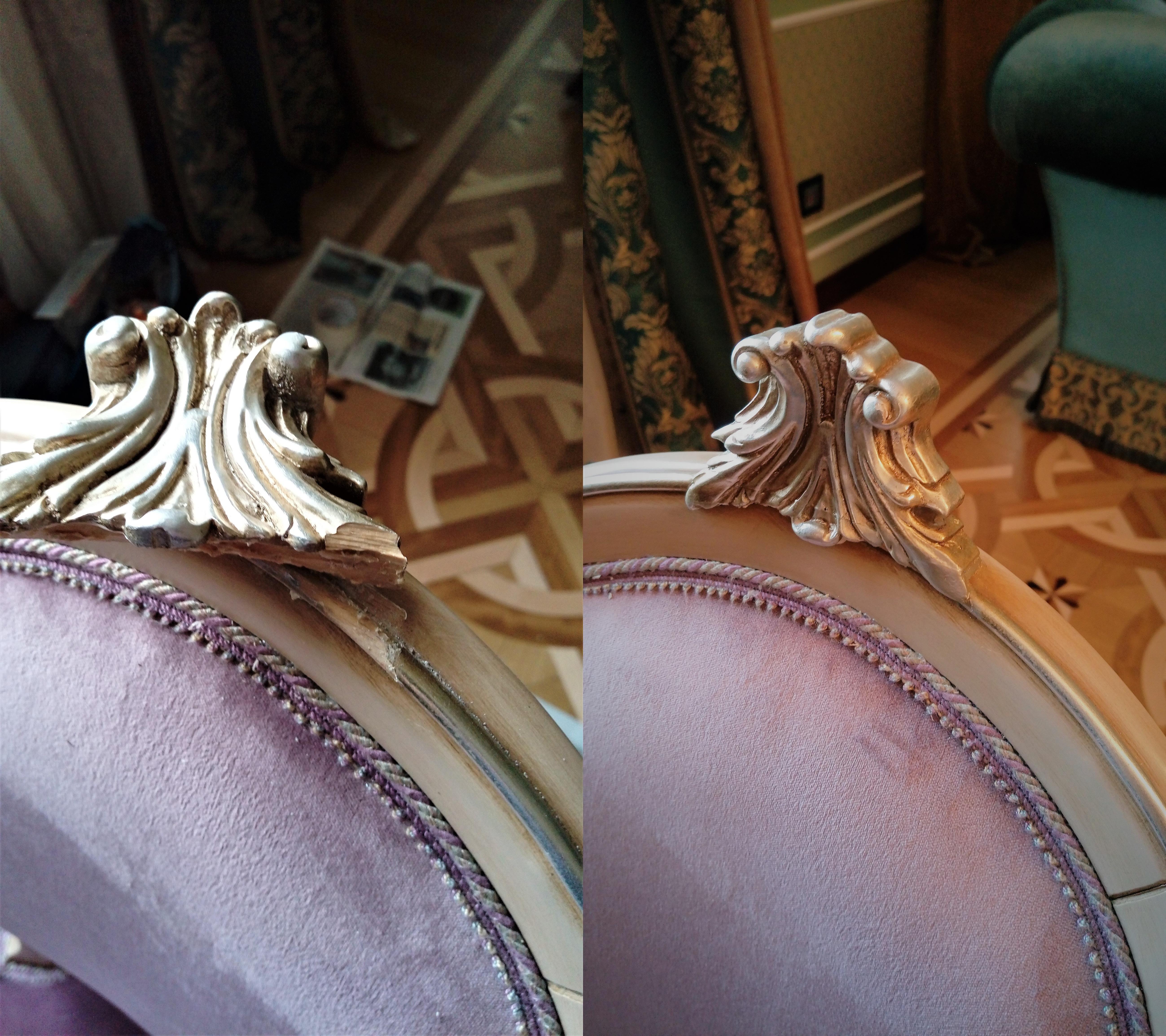Реставрация спинки стула