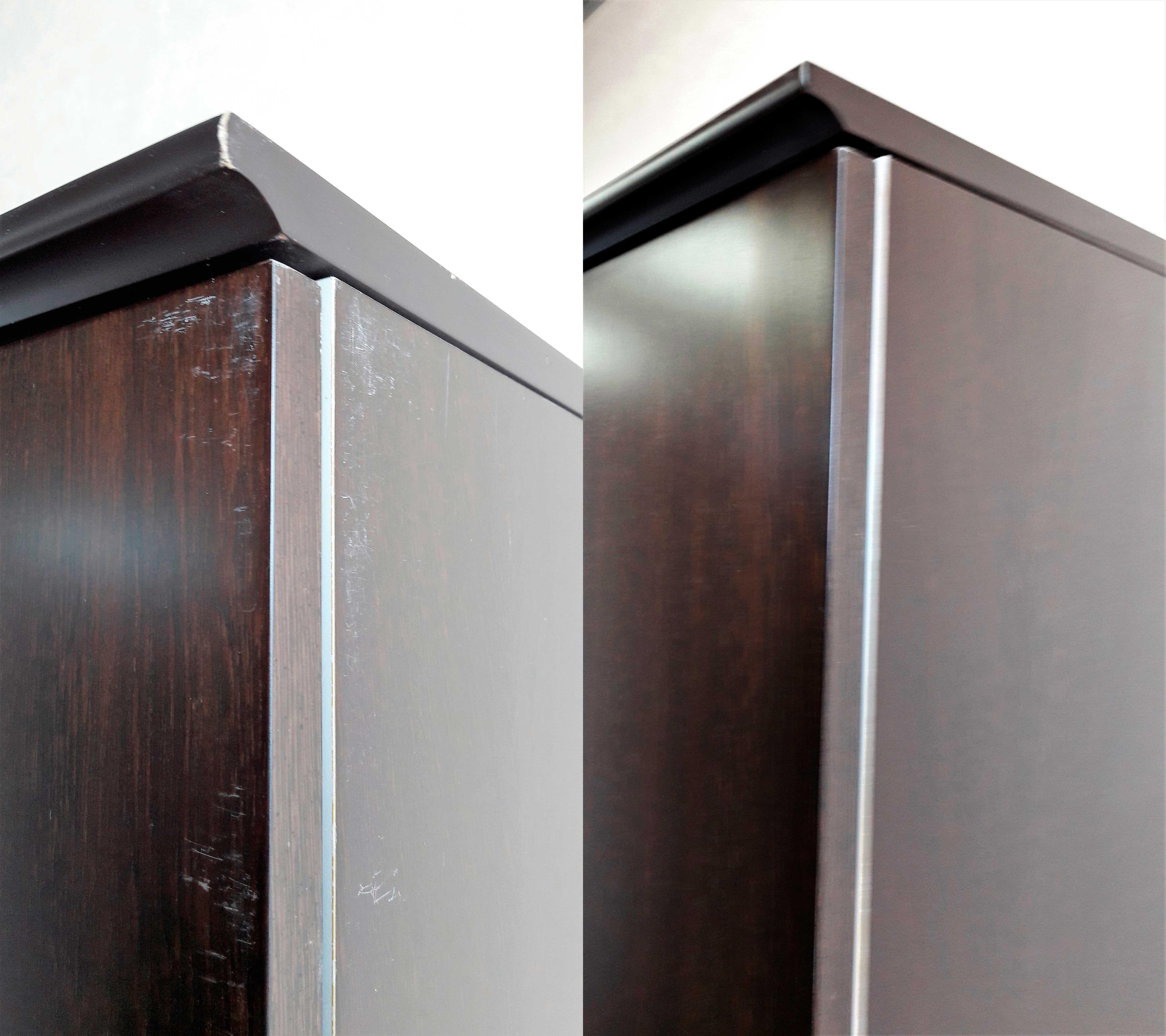 Реставрация угла шкафа
