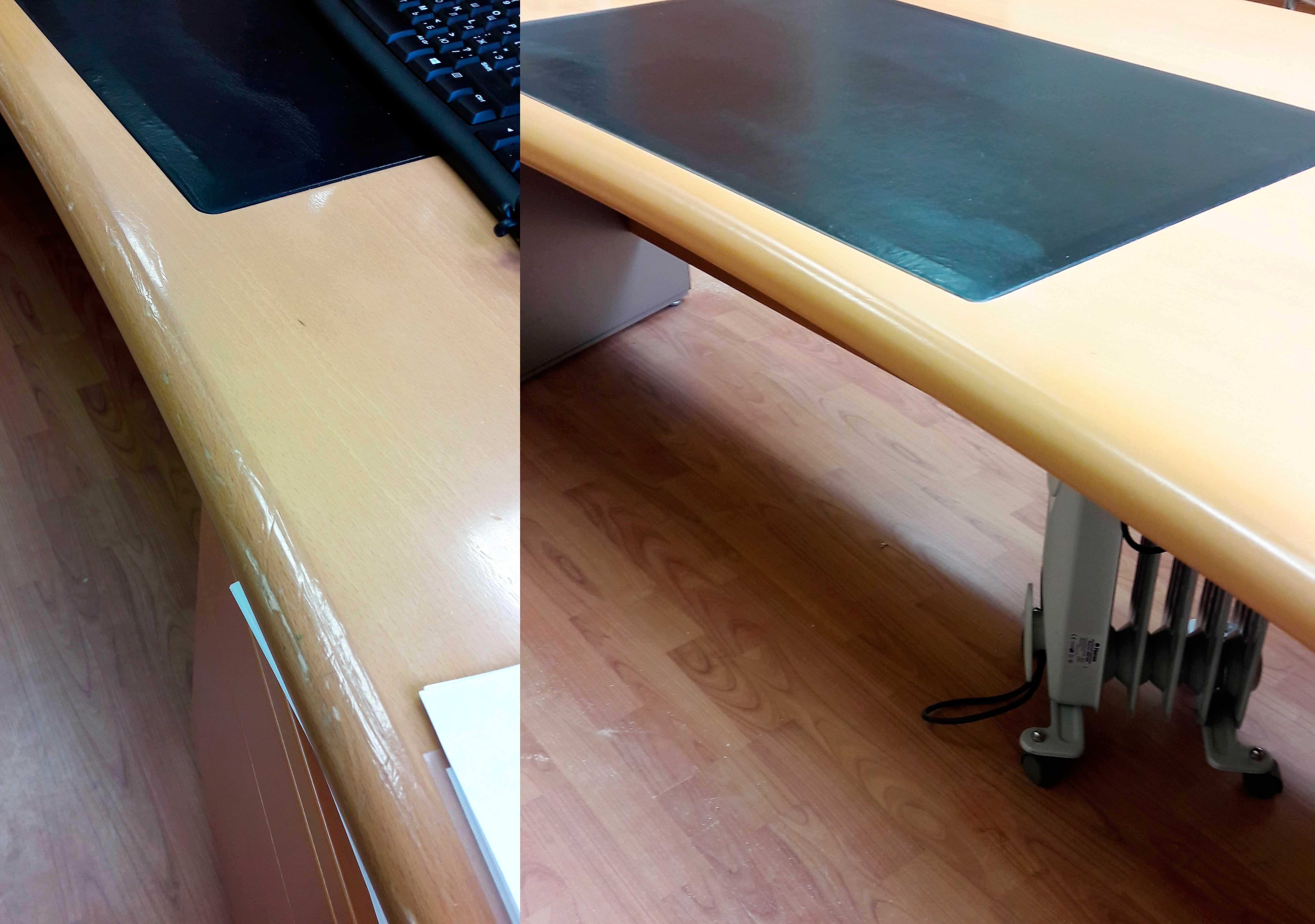 Реставрация кромки офисного стола