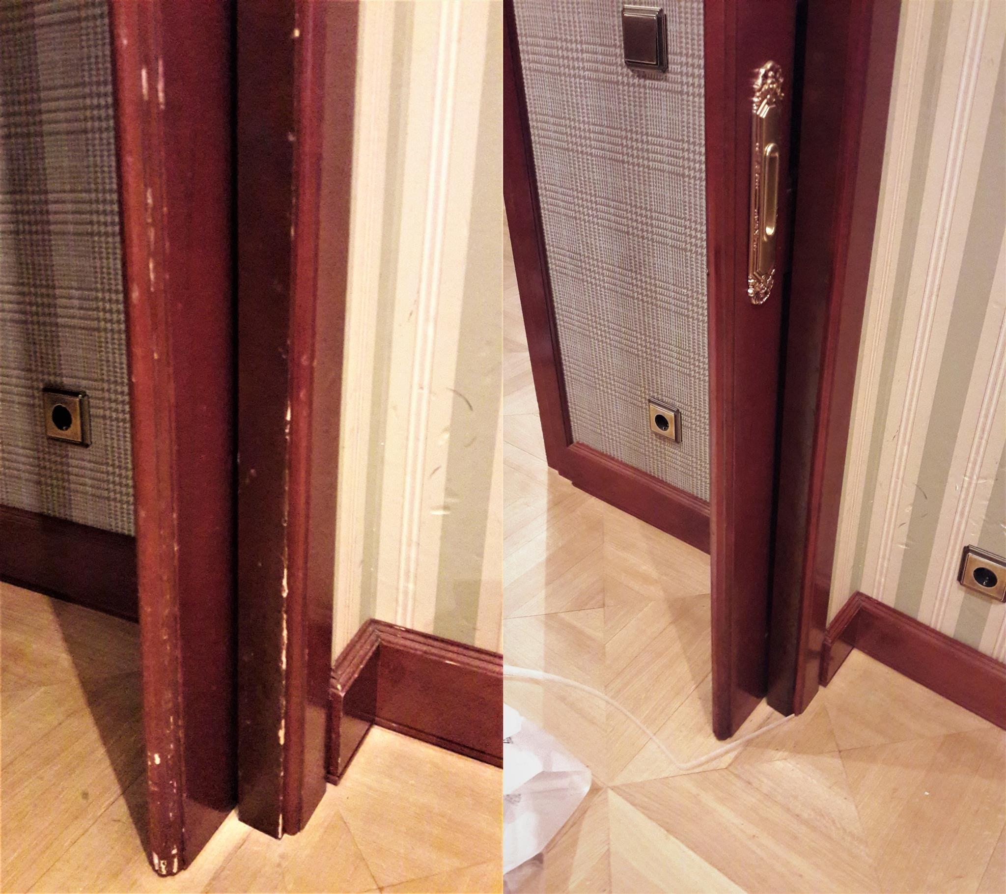 Реставрация раздвижной двери