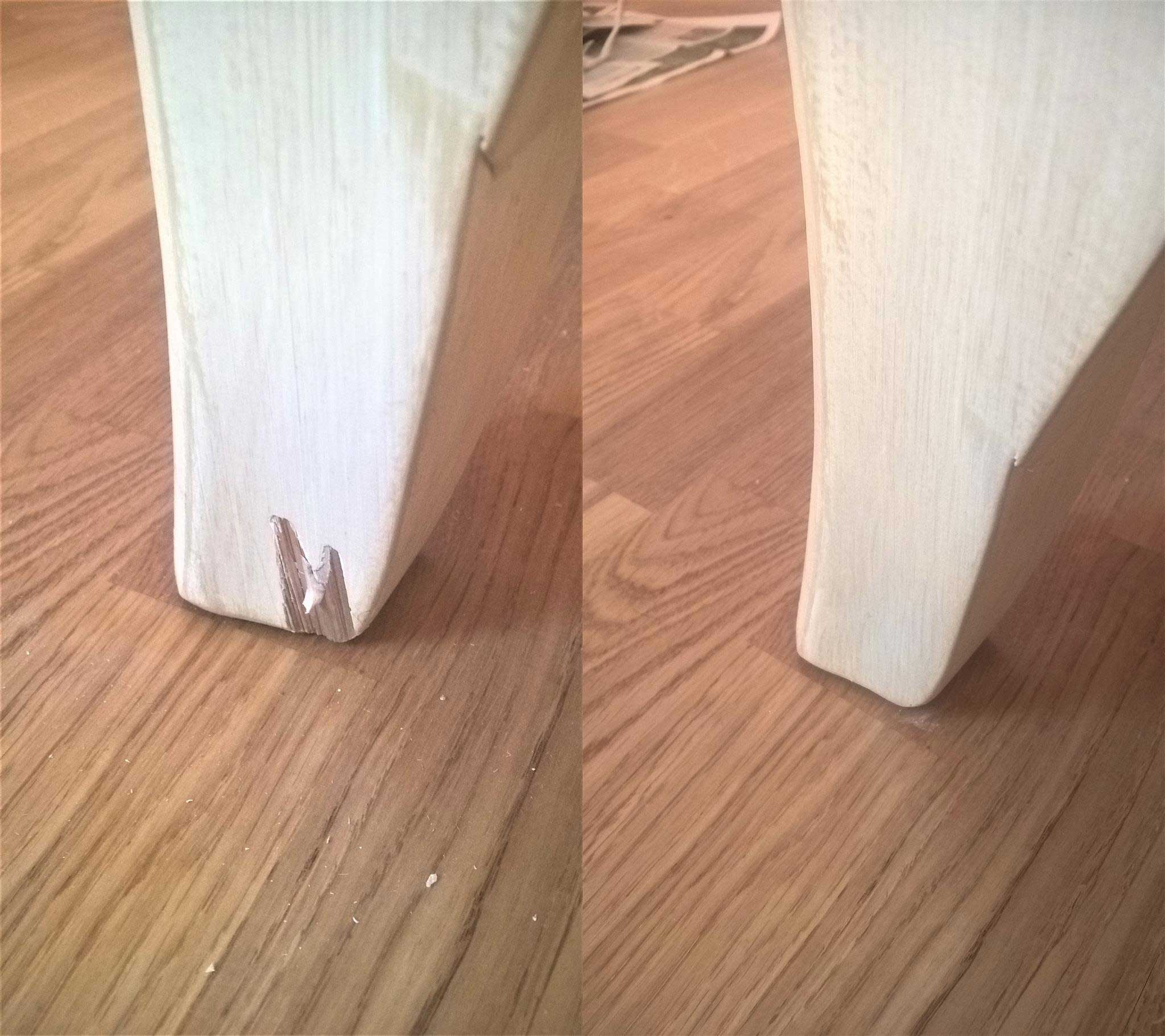 Реставрация ножки комода
