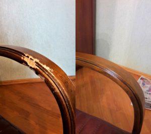 Реставрация подлокотника кресла