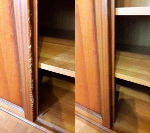 Реставрация дверки комода