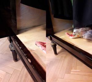 Реставрация подножья кровати