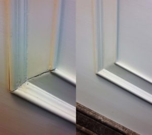 Реставрация кухонной двери