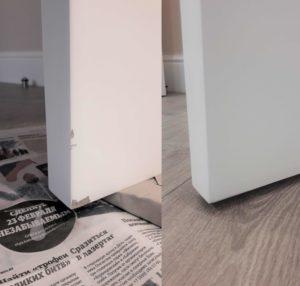Реставрация сколов на двери