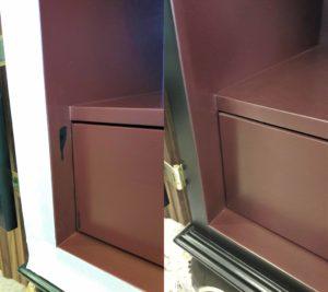 Реставрация пятен в нише шкафа