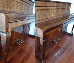 Реставрация сколов на пианино