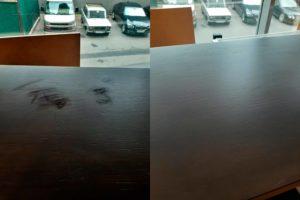Реставрация царапин на столешнице