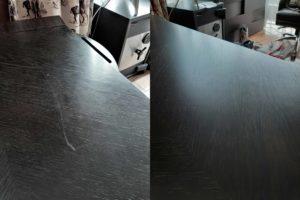 Реставрация царапины на столешнице