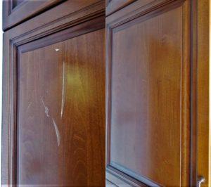 Реставрация царапин на кухонном фасаде