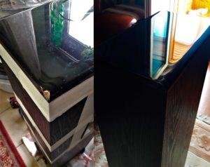 Реставрация выбоины на колонке