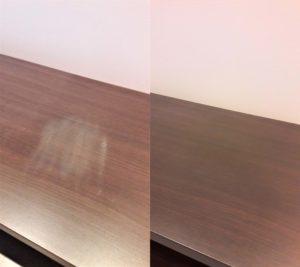 Реставрация пятна на столешнице