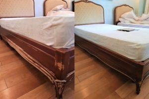 Реставрация основания кровати