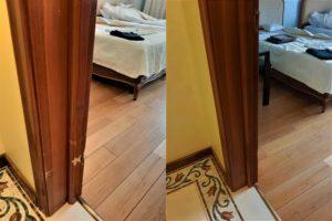 Реставрация царапин на двери