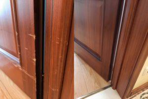 Реставрация царапины на двери