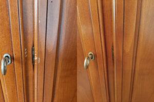 реставрация дверцы комода