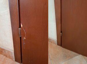 Реставрация крупной на двери