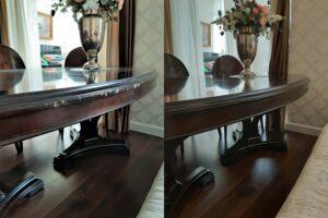 Реставрация сколов на кромке стола
