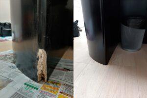 Реставрация столешницы комода