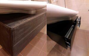 Реставрация тумбы в ванной комнате