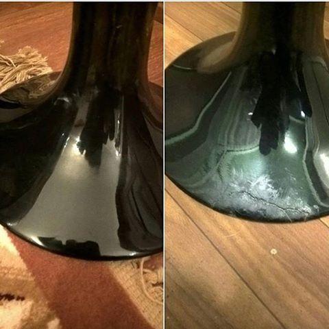 Реставрация нижней части вазы