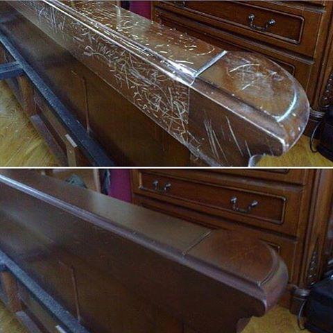 Косметическая реставрация изножье кровати