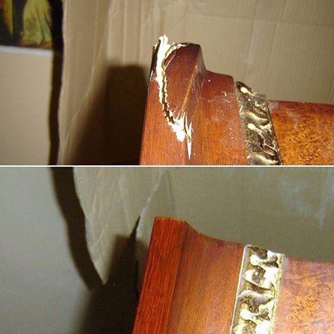 Реставрация угла зеркала
