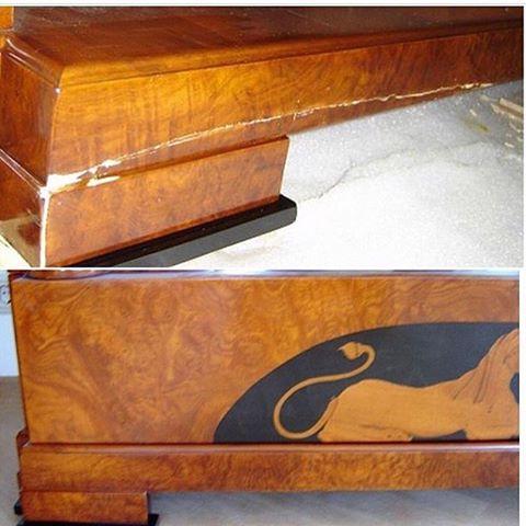 Реставрация изножья кровати