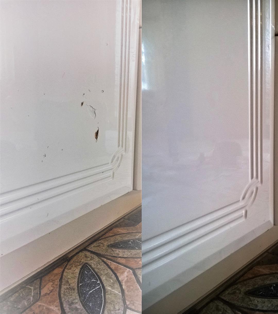 Реставрация битой глянцевой кухонной двери