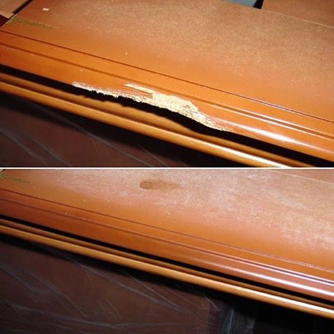Реставрация кромки столешницы