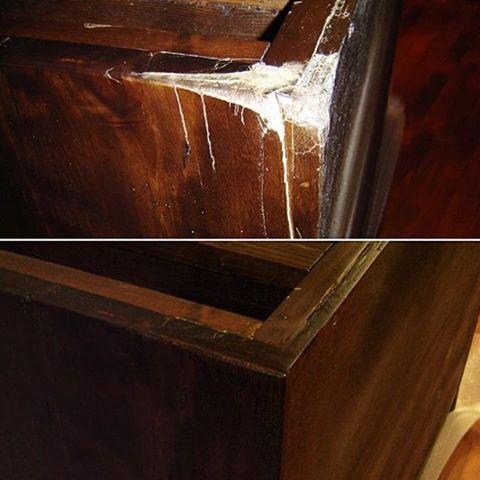 Реставрация кромки комода