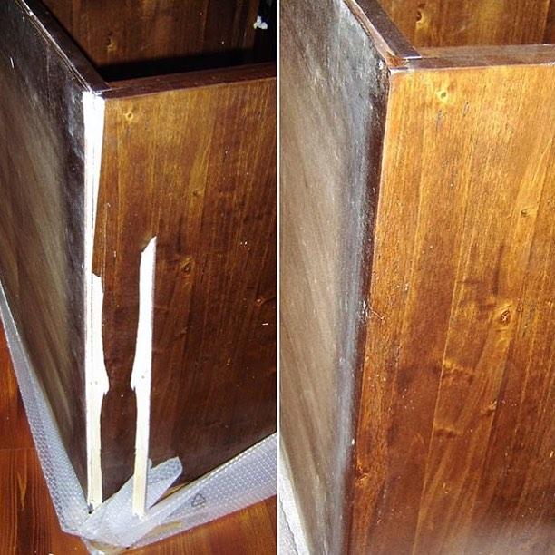 Реставрация боковины комода
