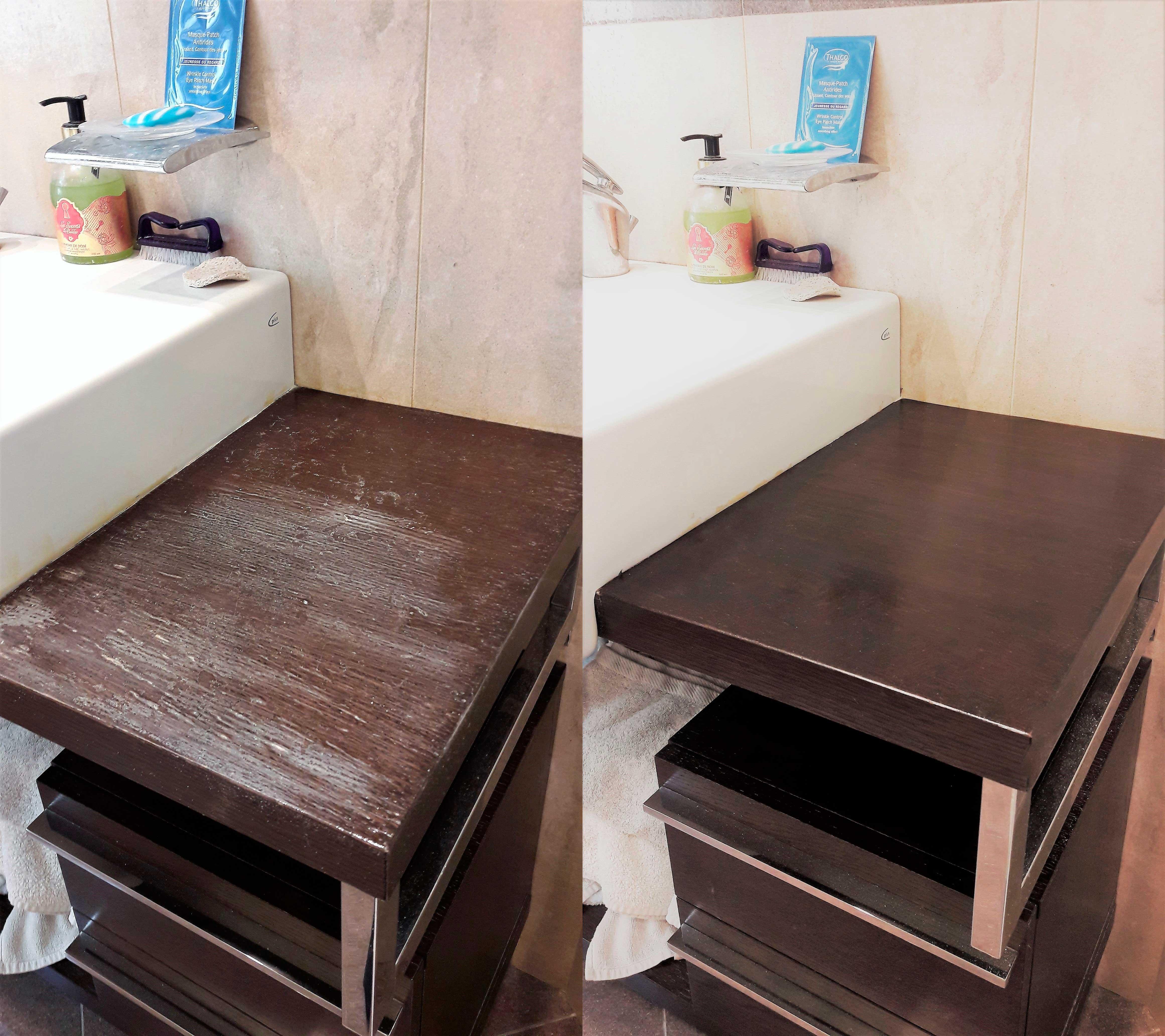 Реставрация столика в ванной