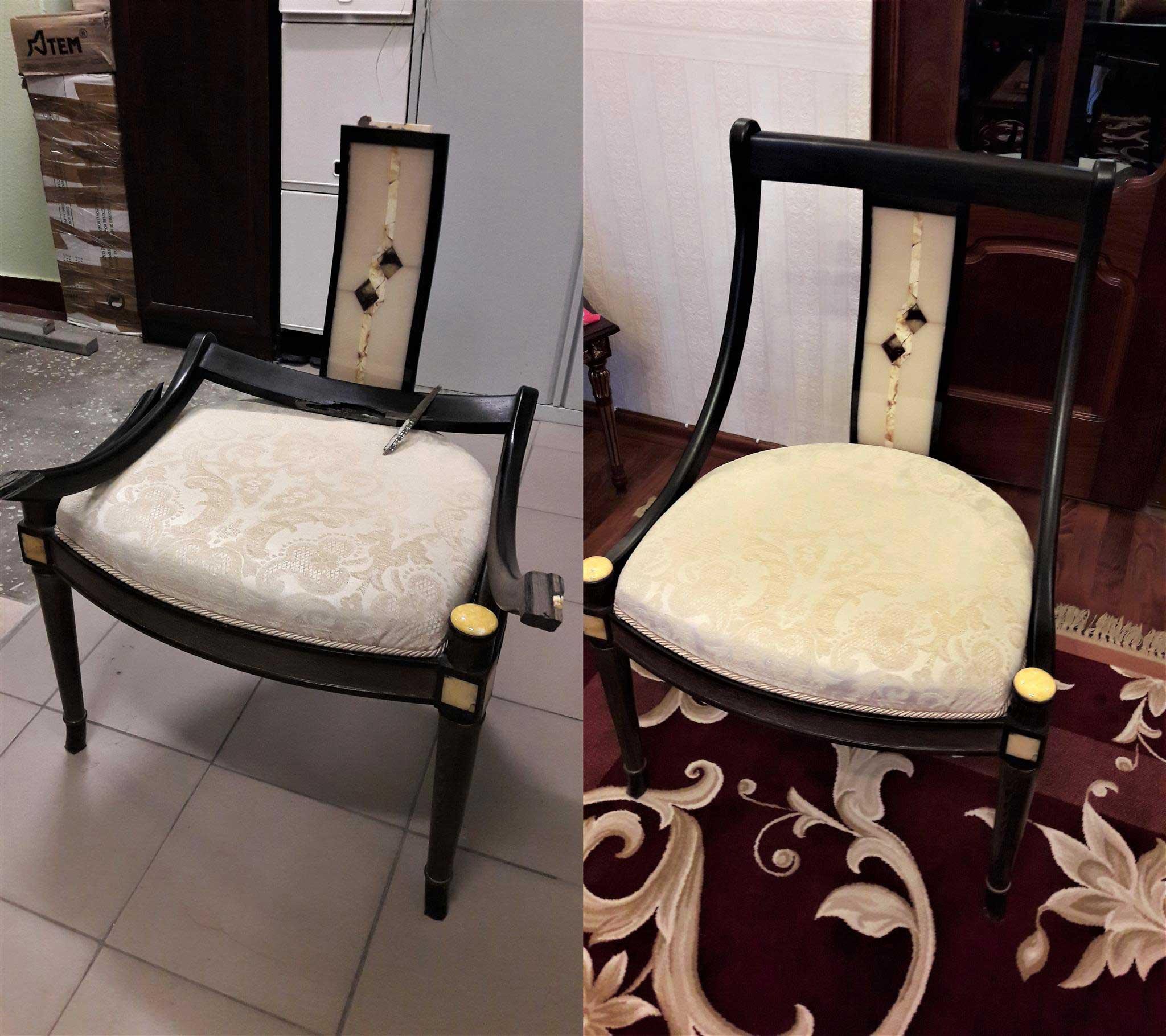 Реставрация сломанного стула