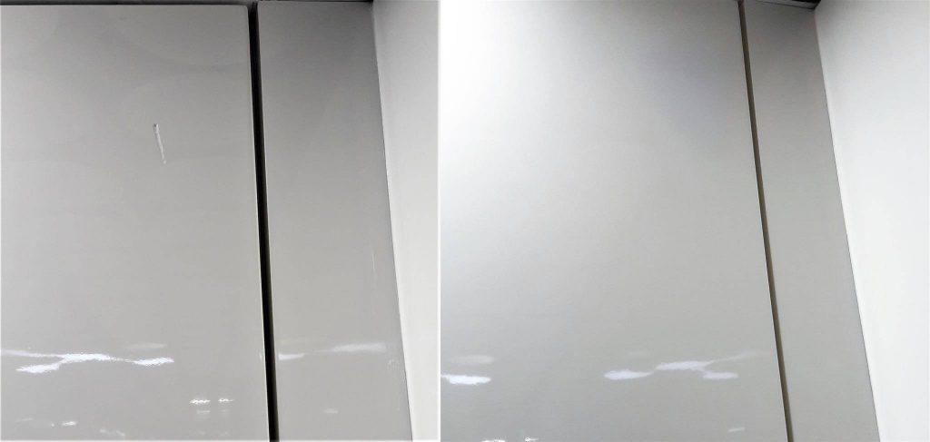 Реставрация глянцевой двери шкафа