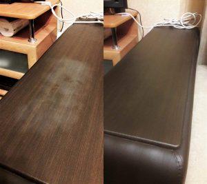Реставрация подлокотников дивана