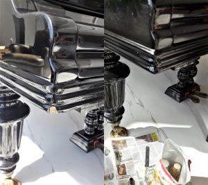 реставрация выбоины на рояле